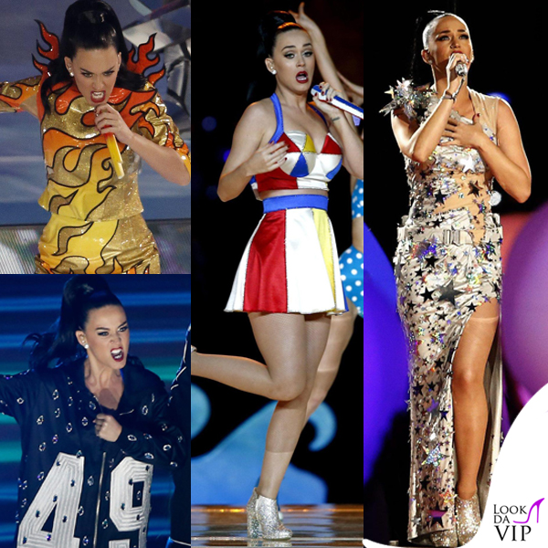 Katy Perry Super Bowl 2015 costumi Moschino by Jeremy Scott