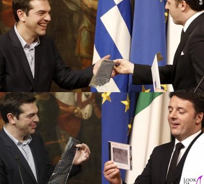 Matteo Renzi Alexis Tsipras cravatta Talarico