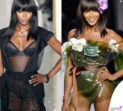 Naomi Campbell PFW sfilata La Perla sfilata Jean Paul Gaultier 2