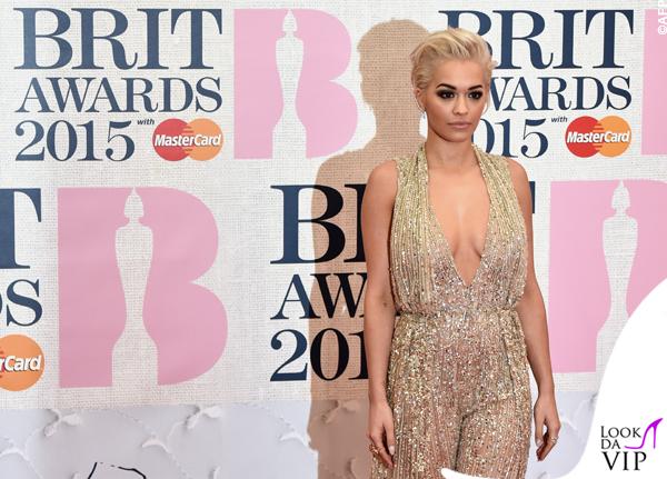 Rita Ora in Zuhair Murad Brit 2015