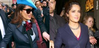 Salma Hayek MFW sfilata Gucci evento Pomellato