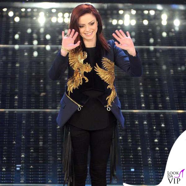Sanremo 2015 1 serata Annalisa Scarrone total Just Cavalli