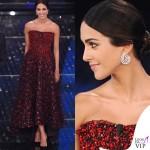 Sanremo 2015 1 serata Rocio Munoz Morales abito Giorgio Armani Privé 2