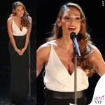 Sanremo 2015 2 serata Anna Tatangelo abito Francesco Paolo Salerno scarpe Le Silla