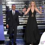 Sanremo 2015 2 serata Carlo Conti abito Salvatore Ferragamo Charlize Theron abito Jenny Packham