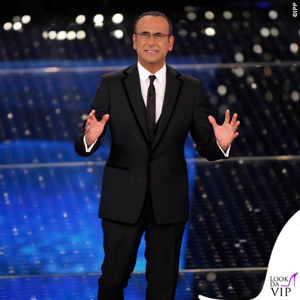 Sanremo 2015 2 serata Carlo Conti abito Salvatore Ferragamo