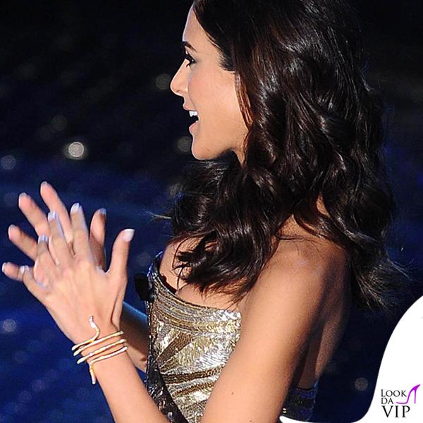 Sanremo 2015 2 serata Rocio Munoz Morales abito Roberto Cavalli 2