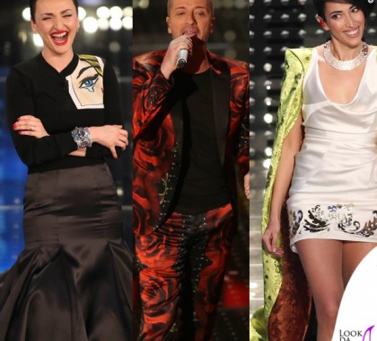 Sanremo 2015 3 serata Arisa abito Daniele Carlotta Raf abito John Richmond Nina Zilli abito Vivienne Westwood