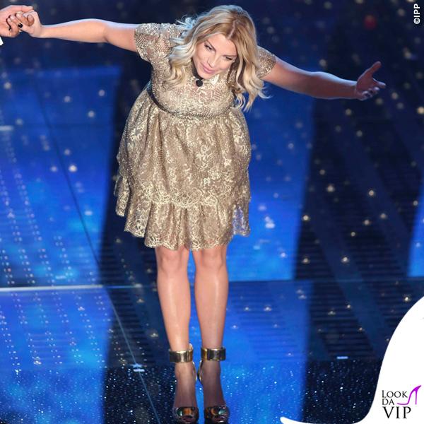 Sanremo 2015 3 serata Emma Marrone abito Valentino 2
