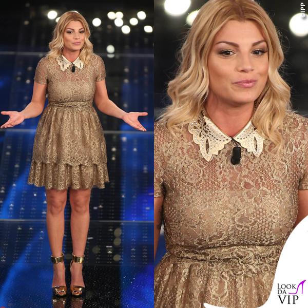 Sanremo 2015 3 serata Emma Marrone abito Valentino