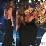 Sanremo 2015 4 serata Anna Tatangelo abito Francesco Paolo Salerno scarpe Le Silla