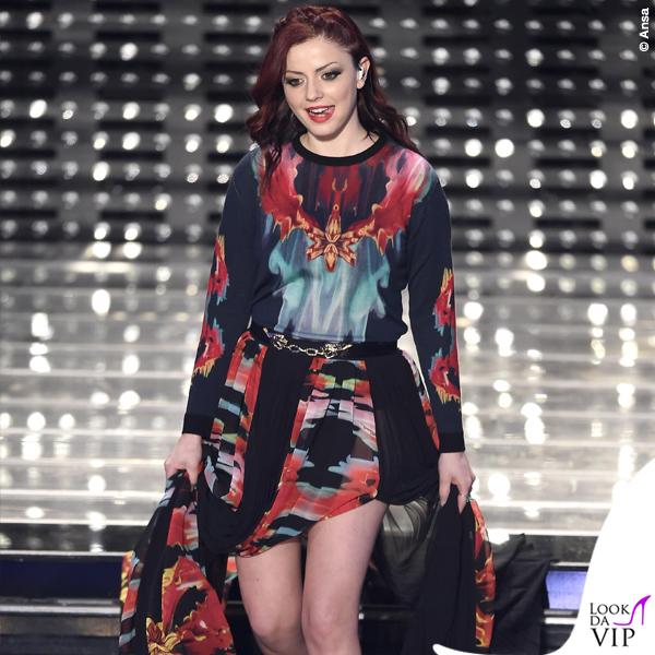 Sanremo 2015 5 serata Annalisa Scarrone abito Roberto Cavalli 2