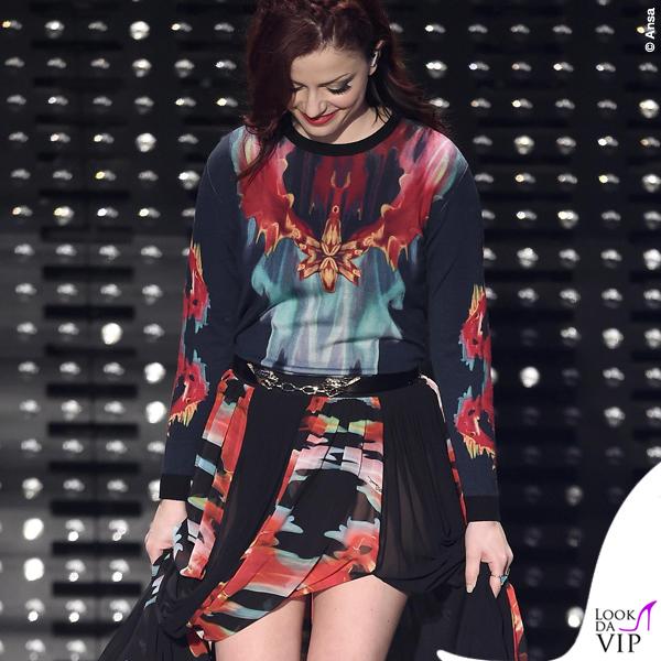 Sanremo 2015 5 serata Annalisa Scarrone abito Roberto Cavalli 3