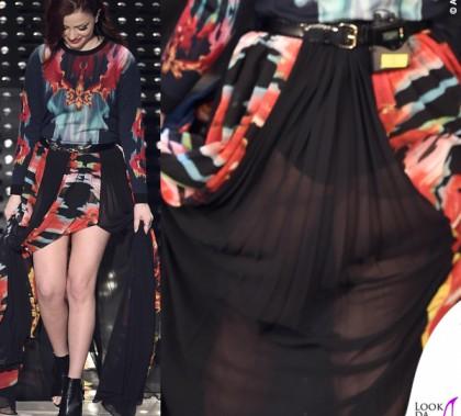 Sanremo 2015 5 serata Annalisa Scarrone abito Roberto Cavalli
