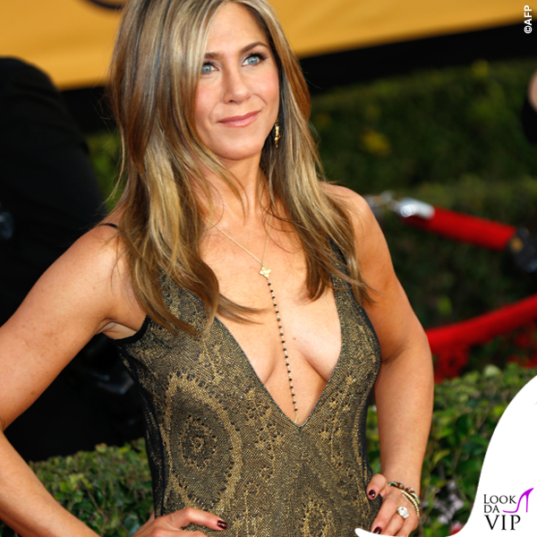 Screen Actors Guild Awards Jennifer Aniston abito John Galliano collana Amrit 2