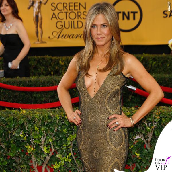 Screen Actors Guild Awards Jennifer Aniston abito John Galliano collana Amrit 4