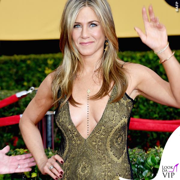 Screen Actors Guild Awards Jennifer Aniston abito John Galliano collana Amrit 5