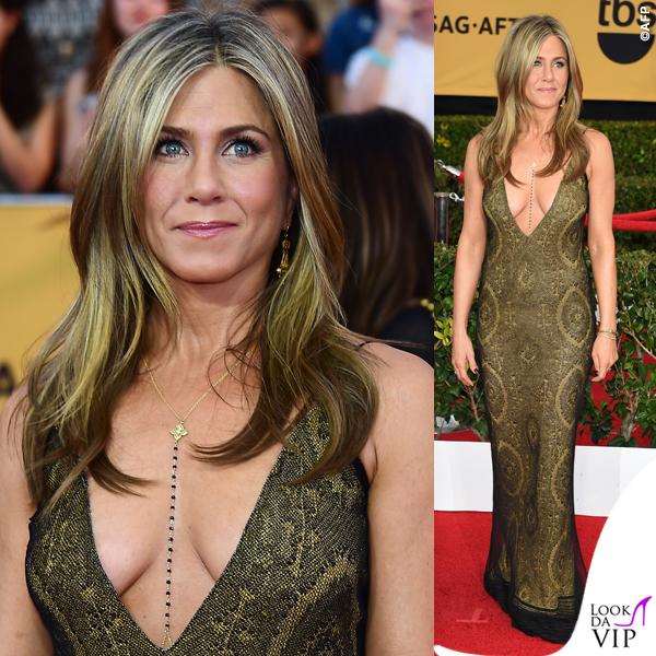 Screen Actors Guild Awards Jennifer Aniston abito John Galliano collana Amrit