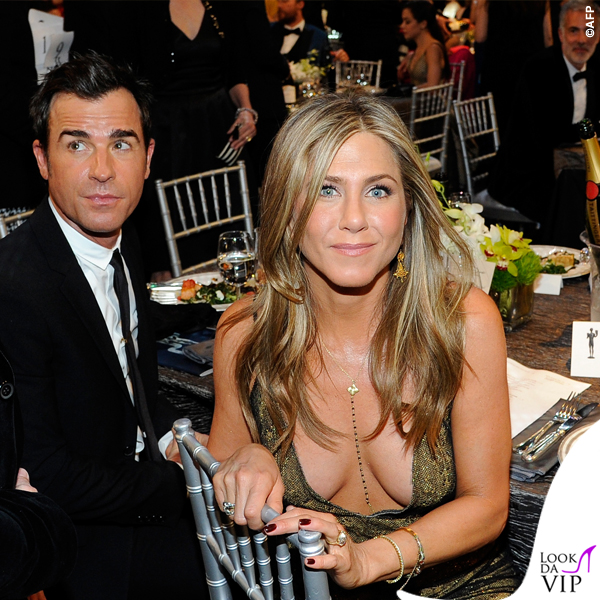 Screen Actors Guild Awards Justin Theroux Jennifer Aniston abito John Galliano collana Amrit 5