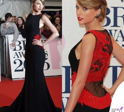 Taylor Swift Brit 2015 abito Roberto Cavalli Atelier