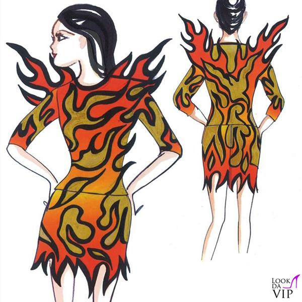 bozzetto costume Moschino by Jeremy Scott