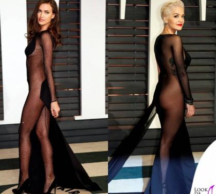 Oscar 2015 Vanity Fair party Irina Shayk abito Atelier Versace Rita Ora abito Donna Karan 2