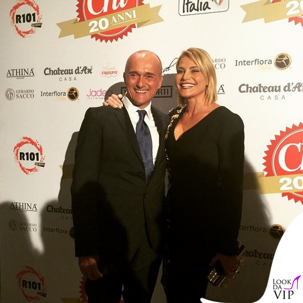 Alfonso Signorini Simona Ventura party Chi