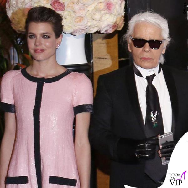 Ballo della Rosa 2015 Charlotte Casiraghi abito Chanel HC Karl Lagerfeld