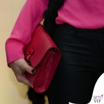 Cristina De Pin MFW evento Cruciani camicia Uel Camilo sandali Dolce&Gabbana borsa Tod's 3