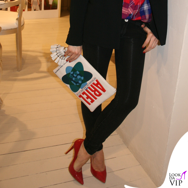 Elena Barolo leggings Freddy giacca Stefanel decollete Dsquared2 clutch Anya Hindmarch 2