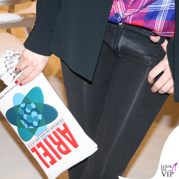 Elena Barolo leggings Freddy giacca Stefanel decollete Dsquared2 clutch Anya Hindmarch 3