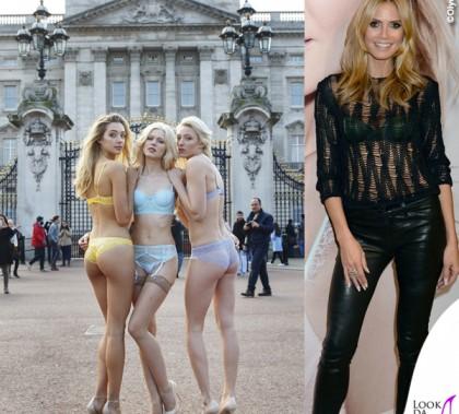 Heidi Klum Londra Buckingham Palace lingerie Heidi Klum Intimates