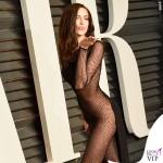 Irina Shayk Oscar 2015 Vanity Fair party abito Atelier Versace