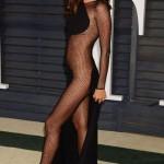 Irina Shayk Oscar 2015 Vanity Fair party abito Atelier Versace 2