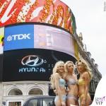 Londra Piccadilly Circus lingerie Heidi Klum Intimates 2