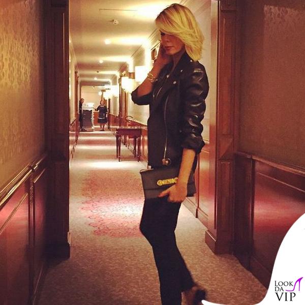 MFW Alessia Marcuzzi sfilata Versace total Versace 2