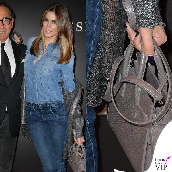 23a6330416 MFW Melissa Satta presentazione Le Silla borsa YSL - Look da Vip