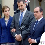 Reali di Spagna Letizia Felipe Francois Hollande visita Francia