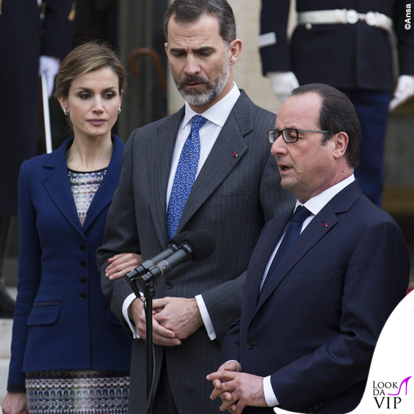 Reali di Spagna Letizia Felipe Francois Hollande visita Francia 2