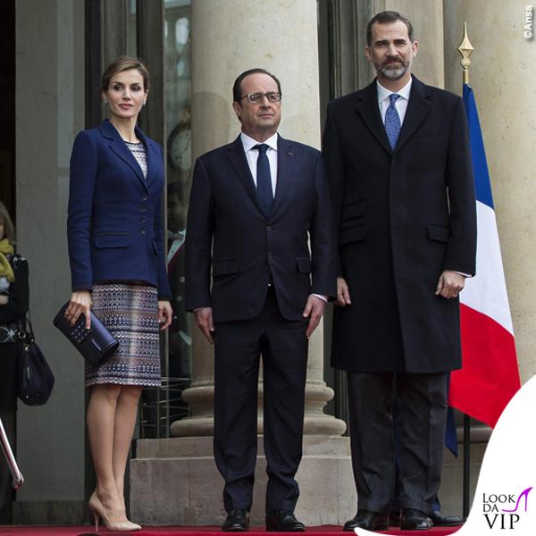 Reali di Spagna Letizia Felipe Francois Hollande visita Francia 3