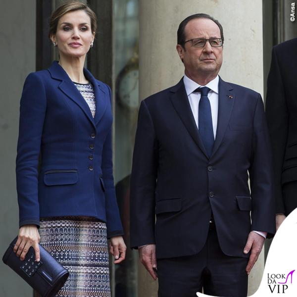 Reali di Spagna Letizia Felipe Francois Hollande visita Francia 4