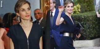 Regina Letizia Ortiz jampsuit Mango borsa Carolina Herrera sandali Magrit
