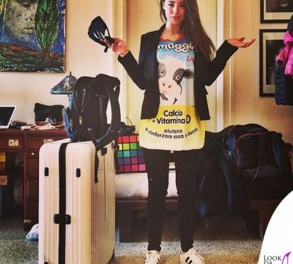 Aurora Ramazzotti tshirt Yes I Am scarpe Adidas Original 3