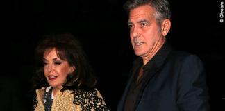 Baria Alamuddin cappotto rafia Ermanno Scervino George Clooney