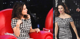 Sabrina Ferilli prima punatat Amici 14 abito Dolce&Gabbana