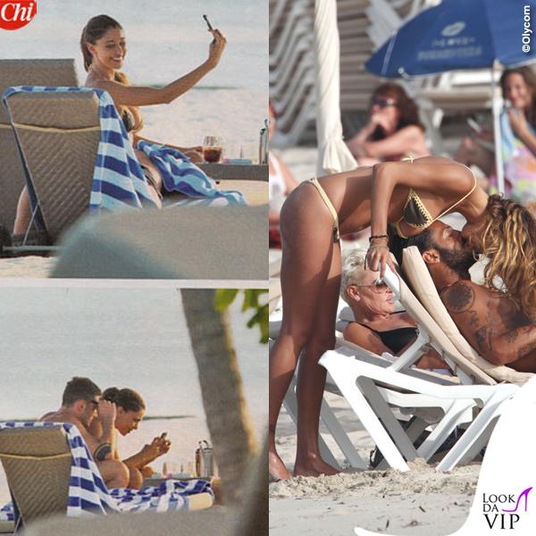 Stefano De Martino Maldive Fabrizio Corona Formentera Belen Rodriguez bikini marrone giallo 2