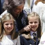 Famiglia Reale di Spagna prima comunione Leonor 5