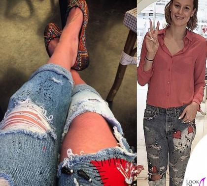 Federica Pellegrini jeans Levis limited edition Alice Basso ballerine LeSilla