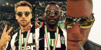 Juventus Lapo Elkann occhiali Italia Independent tribute to Juventus