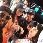 Kendall Jenner Gigi Hadid Lewis Hamilton Bella Hadid Hailey Baldwin Gran Premio di Montecarlo 3